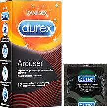 Parfumuri și produse cosmetice Prezervative cu nervuri, 12 bucăți - Durex Arouser