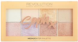 Parfumuri și produse cosmetice Paletă highlighter pentru față - Makeup Revolution Soph Highlighter Palette