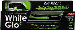 Parfumuri și produse cosmetice Set - White Glo Charcoal Total Mouth Detox (toothpaste/150g + toothbrush)