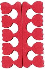 Parfumuri și produse cosmetice Separatoare de deget de la picior, roșu - Peggy Sage