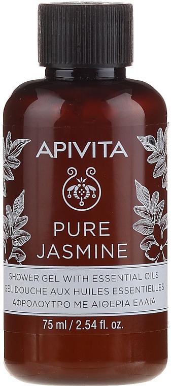Гель для душа натуральный жасмин с эфирными маслами - Apivita Pure Jasmine Showergel with Essential Oils — фото N1