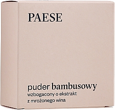 Parfumuri și produse cosmetice Pulbere de bambus cu proteine de mătase și extract de vin congelat - Paese Bamboo Powder With Silk And Frozen Wine Extract