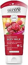 """Parfumuri și produse cosmetice Lapte de corp """"Argan și afine"""" - Lavera Regenerating Body Milk With Organic Cranberry & Organic Argan Oil"""