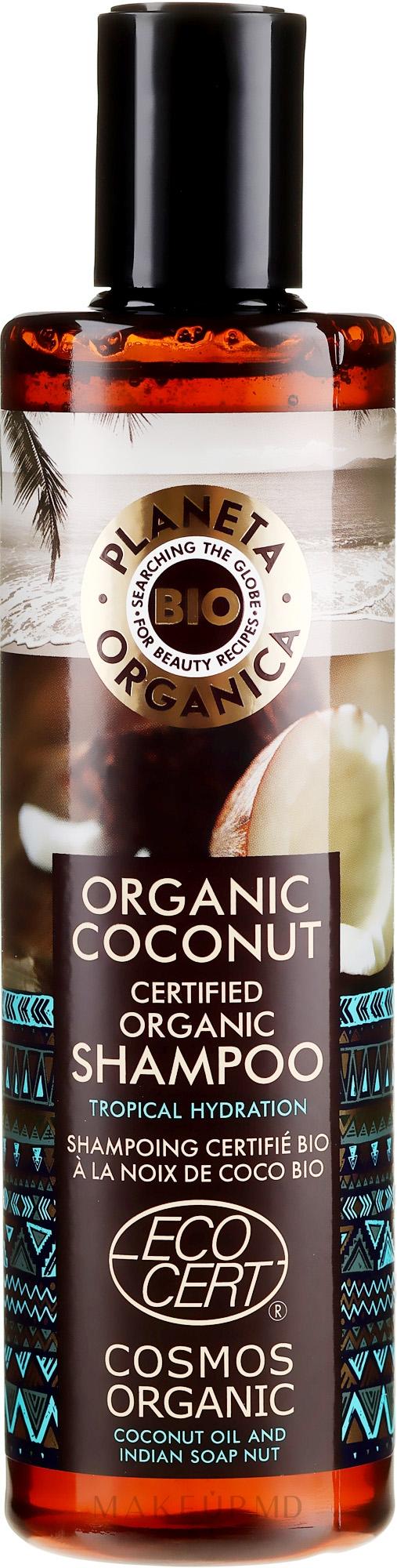 Șampon pentru păr - Planeta Organica Organic Coconut Natural Hair Shampoo — фото 280 ml