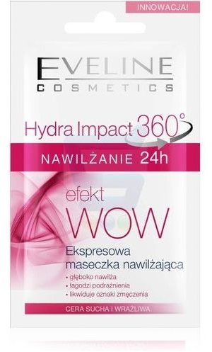Mască hidratantă pentru față - Eveline Cosmetics Hydra Impact 360 — Imagine N1