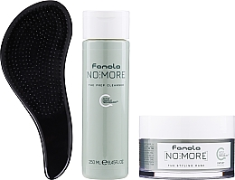 Parfumuri și produse cosmetice Set - Fanola No More (shm/250ml + mask/200ml + brush)