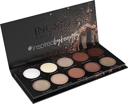 Paletă de farduri de ochi - Ingrid Cosmetics Nude Matt & Glam Palette