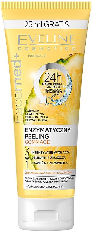 Peeling facial - Eveline Cosmetics Facemed+ Enzymatycny Peeling Gommage