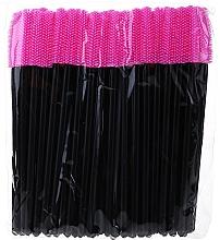Parfumuri și produse cosmetice Perii din silicon pentru gene, negre-roz - Novalia Group