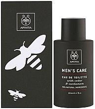 Parfumuri și produse cosmetice Apivita Men's Care Eau De Toilette - Apă de toaletă