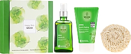 Parfumuri și produse cosmetice Set - Weleda Happy Skin (b/peel/150ml + b/oil/100ml + sh/sponge)
