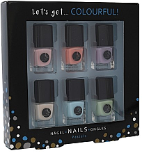 Parfumuri și produse cosmetice Set - Cosmetic 2K Let's Get Colourful! Pastels Nail Polish (nail/laquer/6x5ml)