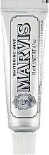 """Parfumuri și produse cosmetice Pastă cu efect de albire pentru dinți """"Mentă"""" - Marvis Whitening Mint Toothpaste (mini)"""