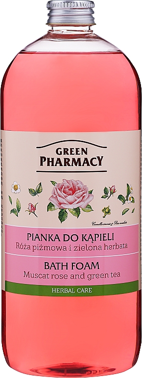 Spumă de baie, cu trandafir muscat și ceai vierde - Green Pharmacy