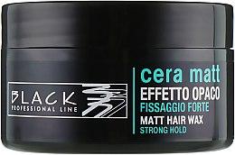 Parfumuri și produse cosmetice Ceară de păr, cu efect mat - Black Professional Line Cera Matt Effetto Opaco