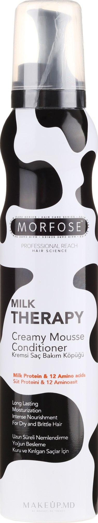 Mousse pentru păr - Morfose Milk Therapy Mousse Conditioner — Imagine 200 ml