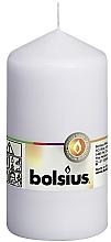 Parfumuri și produse cosmetice Lumânare cilindrică, albă, 130/68 mm - Bolsius Candle