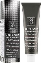Parfumuri și produse cosmetice Cremă delicată cu hypericum și propolis pentru ras - Apivita Men Men's Care Gentle Shaving Cream With Hypericum & Propolis