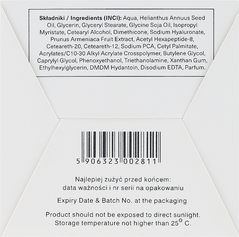 Cremă anti-rid cu acid hialuronic - Ava Laboratorium L'Arisse 5D Anti-Wrinkle Cream Phytohyaluron + Peptides — Imagine N3