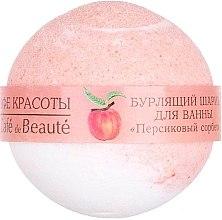 """Parfumuri și produse cosmetice Bilă efervescentă pentru baie """"Sorbet de piersic"""" - Le Cafe de Beaute Bubble Ball Bath"""