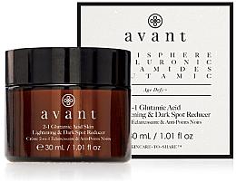 Parfumuri și produse cosmetice Cremă 2 în 1 pentru iluminarea tenului - Avant 2-1 Glutamic Skin Lightening & Dark Spot Reducer