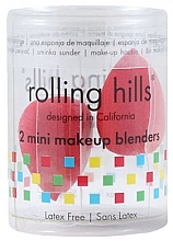 Parfumuri și produse cosmetice Beauty blender, roșii, 2 buc - Rolling Hills 2 Mini Makeup Blenders