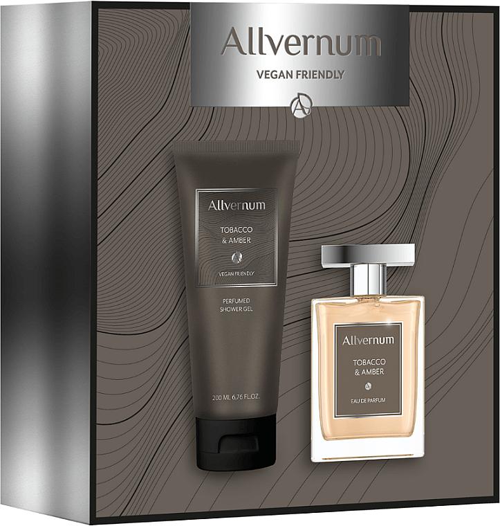 Allvernum Tobacco & Amber - Набор (edp/100ml + sh/gel/200ml) — фото N1