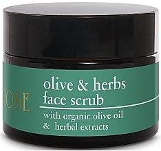Духи, Парфюмерия, косметика Scrub facial cu ulei de măsline și extracte din plante - Yellow Rose Olive & Herbs Face Scrub