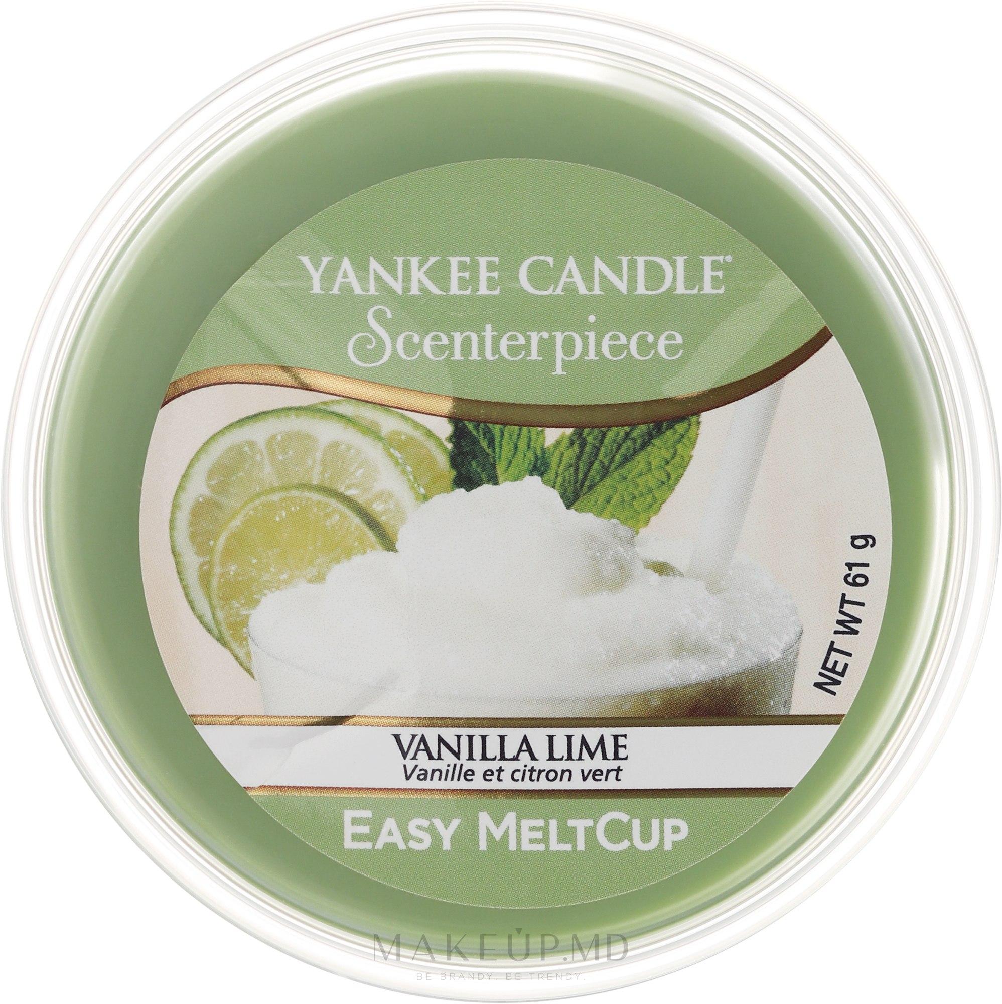 Ceară aromatică - Yankee Candle Vanilla Lime Melt Cup — Imagine 61 g