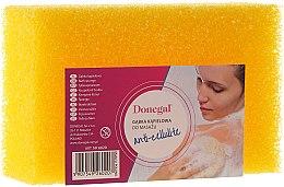 Parfumuri și produse cosmetice Burete de duș 6020, galbenă - Donegal Cellulose Sponge