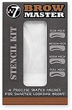 Parfumuri și produse cosmetice Set pentru sprâncene - W7 Brow Master Stencil Kit