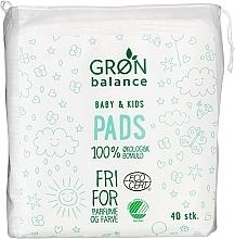Духи, Парфюмерия, косметика Discuri din bumbac, 40 bucăți - Gron Balance Baby & Kids Pads