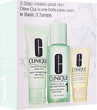 Parfumuri și produse cosmetice Set - Clinique 3-Step System Type I (soap/50ml + lot/100ml + lot/30ml)