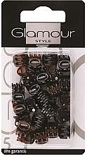Parfumuri și produse cosmetice Agrafe de păr, 0222, negru-maro - Glamour