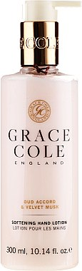 Loțiune pentru mâini - Grace Cole Oud Accord & Velvet Musk Softening Hand Lotion — фото N1