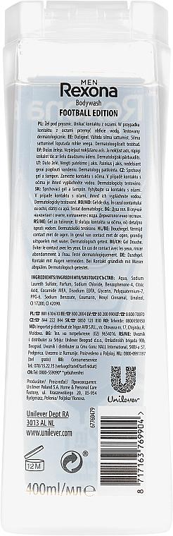 Șampon- gel de duș 2in1 - Rexona Men Football Edition Laliga Shower Gel Body & Hair — Imagine N2