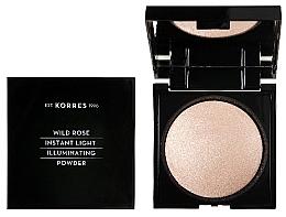 Parfumuri și produse cosmetice Pudră de față - Korres Wild Rose Instant Light Illuminaring Power