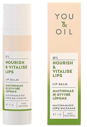 "Balsam de buze ""Nutriție și revitalizare"" - You & Oil Nourish & Vitalise Lip Balm — Imagine N1"