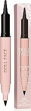 Parfumuri și produse cosmetice Eyeliner Kajal - Doll Face Double Date Liquid Eye Definer & Smokey Kajal