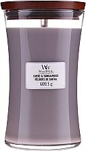 Parfumuri și produse cosmetice Lumânare parfumată în suport de sticlă - WoodWick Suede & Sandalwood Candle