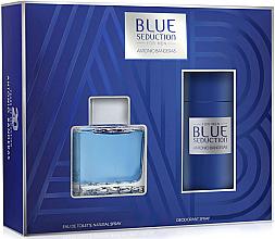 Parfumuri și produse cosmetice Blue Seduction Antonio Banderas - Set (edt/100ml + deo/150ml)