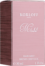 Parfumuri și produse cosmetice Korloff Paris Miss - Mist pentru păr