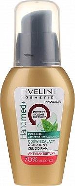 Gel antibacterian cu ulei de arbore de ceai, 70% alcool - Eveline Cosmetics Handmed+, 70% Alcohol