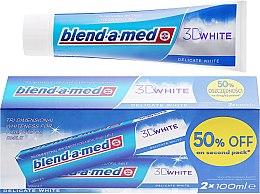 """Parfumuri și produse cosmetice Set Pastă de dinți """"albire delicată"""" - Blend-A-Med 3D White Delicate White Toothpaste"""