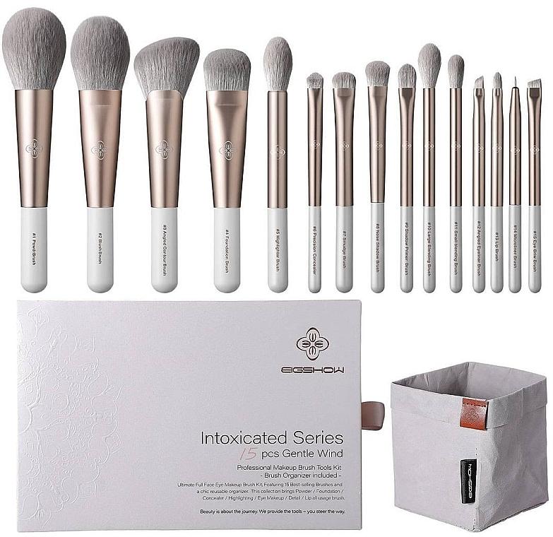 Set pensule pentru machiaj, 15 buc - Eigshow Beauty Intoxicated Gentle Wind Brush Set