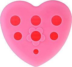 Parfumuri și produse cosmetice Perie din silicon pentru spălarea și uscarea periilor de machiaj cu suport, roz - Lash Brow