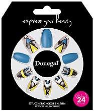 Parfumuri și produse cosmetice Set unghii false cu adeziv, 3051 - Donegal Express Your Beauty