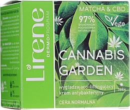 Parfumuri și produse cosmetice Cremă antibacteriană de zi - Lirene Cannabis Garden Matcha&Cbd Cream