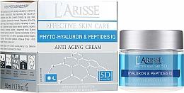 Parfumuri și produse cosmetice Cremă anti-rid cu acid hialuronic - Ava Laboratorium L'Arisse 5D Anti-Wrinkle Cream Phytohyaluron + Peptides