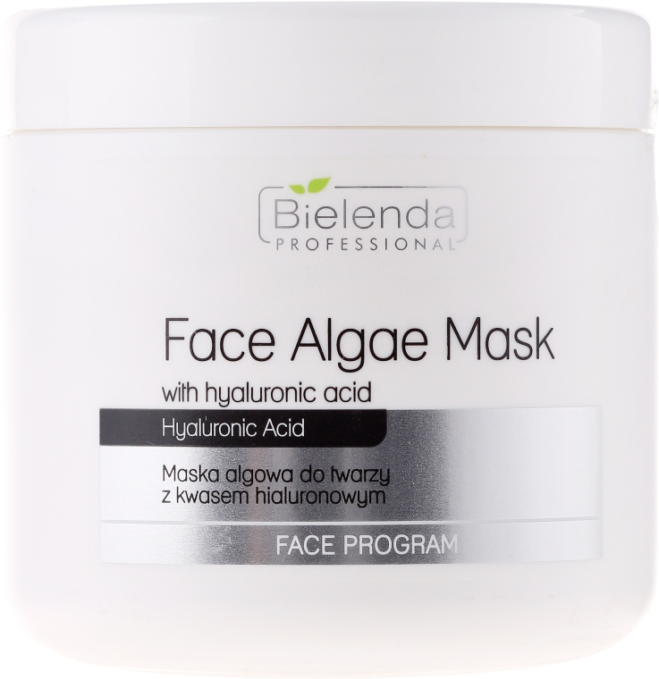 Mască de față alginat cu Acid hialuronic - Bielenda Professional Face Algae Mask with Hyaluronic Acid